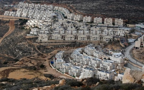 "Foto de asentamientos ilegales israelíes, extraída de artículo de prensa ""EU'stop court rules food from Israeli settlements must carry special label"", The Telegraph, edición 12/11/2019"