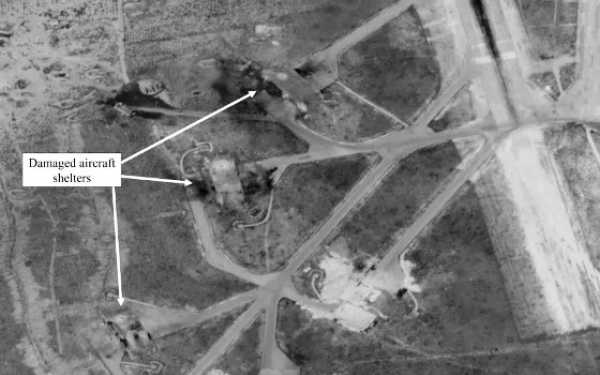 """Imagen satelital del ataque en Idlib del 2017, del artículo """"The Chemical-Weapons Attack In Syria: Is There a Place for Skepticism?**"""